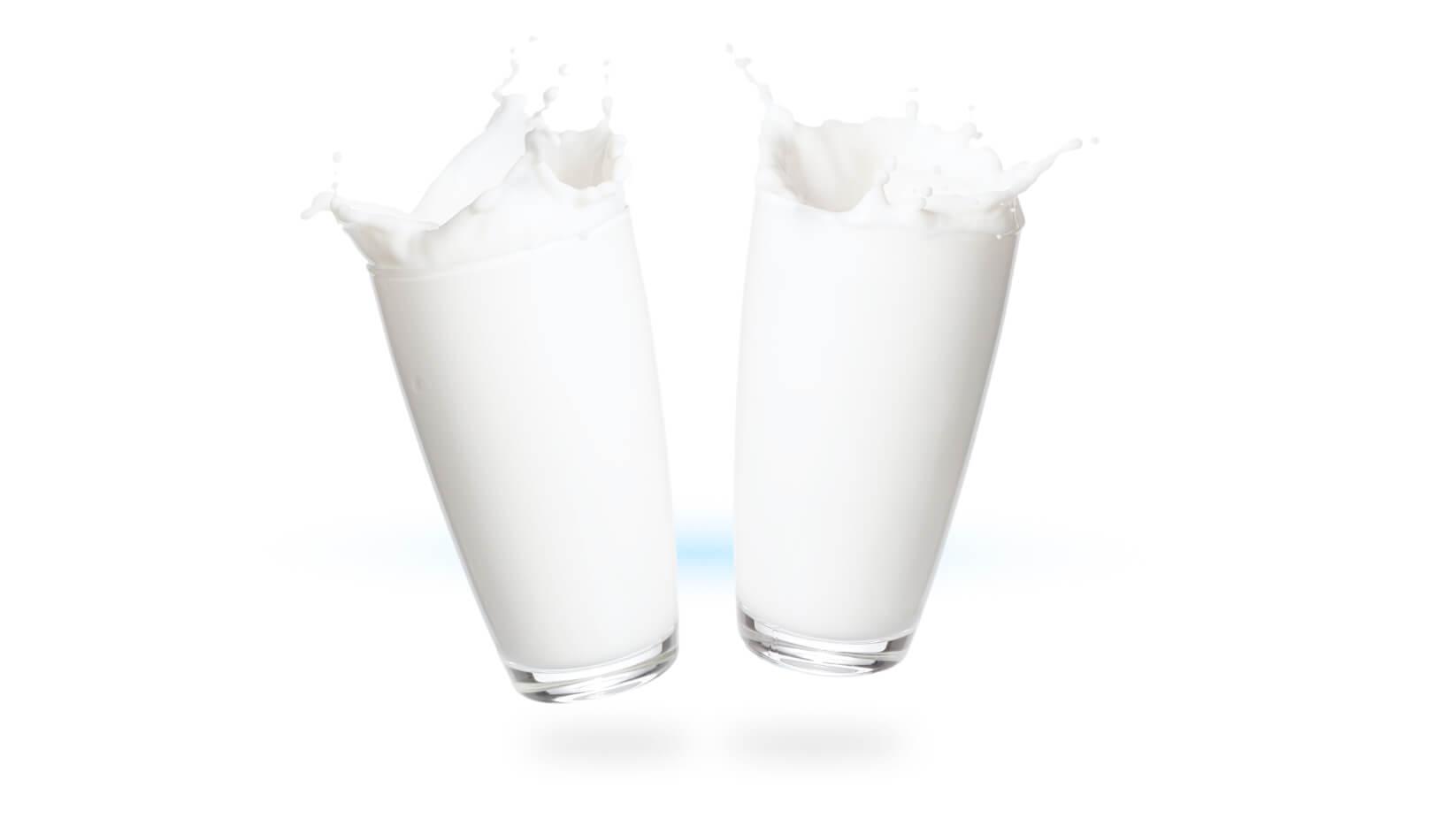 Twee glazen melk